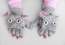 Χειμερινά γάντια Στοκ εικόνες με δικαίωμα ελεύθερης χρήσης