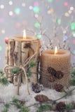 Χειμερινά κεριά Στοκ φωτογραφία με δικαίωμα ελεύθερης χρήσης