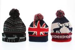 Χειμερινά μάλλινα καπέλα Στοκ εικόνα με δικαίωμα ελεύθερης χρήσης