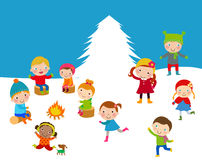 Χειμερινά παιδιά Στοκ φωτογραφίες με δικαίωμα ελεύθερης χρήσης