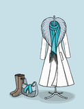 Χειμερινά παλτό και εξαρτήματα Στοκ Εικόνα