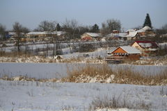 Χειμερινά σπίτια Στοκ εικόνα με δικαίωμα ελεύθερης χρήσης