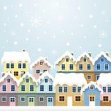 Χειμερινά σπίτια Διανυσματική απεικόνιση