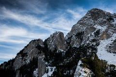 Χειμερινά τοπία πέρα από τα Καρπάθια βουνά Στοκ εικόνες με δικαίωμα ελεύθερης χρήσης