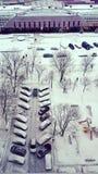 Χειμερινά megapolis Μόσχα στοκ εικόνες
