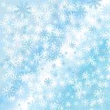 Χειμερινά snowflakes ανασκόπηση Στοκ Φωτογραφίες