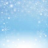 Χειμερινά snowflakes υπόβαθρο Στοκ Φωτογραφία