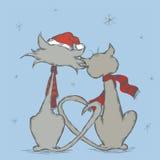 Χειμερινές γάτες Στοκ Εικόνες
