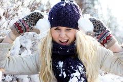 χειμερινές γυναίκες Στοκ Φωτογραφίες