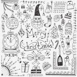 Χειμερινές διακοπές - doodles θέστε 3 Στοκ φωτογραφίες με δικαίωμα ελεύθερης χρήσης