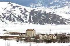 Χειμερινή άποψη ενός παλαιού νεκροταφείου Στοκ φωτογραφία με δικαίωμα ελεύθερης χρήσης