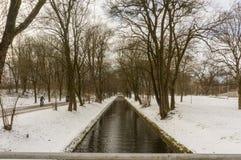 Χειμερινή άποψη σε Olympiapark Μόναχο Munchen Γερμανία Στοκ εικόνες με δικαίωμα ελεύθερης χρήσης