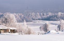 Χειμερινή άποψη της κοιλάδας Ob στο Novosibirsk στοκ φωτογραφίες