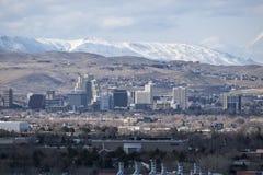 Χειμερινή άποψη της Νεβάδας Reno Στοκ Φωτογραφία