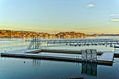 Χειμερινή άποψη της πισίνας Στοκ Εικόνα