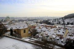 Χειμερινή άποψη της Πράγας Στοκ Εικόνες