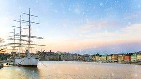 Χειμερινή άποψη της Στοκχόλμης Σουηδία στοκ εικόνες