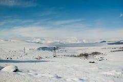 Χειμερινή λίμνη σε ένα οροπέδιο Στοκ φωτογραφία με δικαίωμα ελεύθερης χρήσης