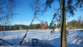 Χειμερινή λίμνη Στοκ εικόνες με δικαίωμα ελεύθερης χρήσης