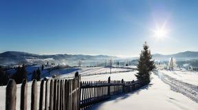 Χειμερινή αγροτική άποψη Στοκ εικόνα με δικαίωμα ελεύθερης χρήσης