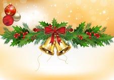 Χειμερινή ανασκόπηση με τις διακοσμήσεις Χριστουγέννων Στοκ Φωτογραφίες