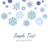 Χειμερινή ανασκόπηση με snowflakes απεικόνιση αποθεμάτων