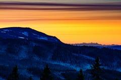 Χειμερινή ανατολή στο βουνό ΙΙ Στοκ εικόνες με δικαίωμα ελεύθερης χρήσης