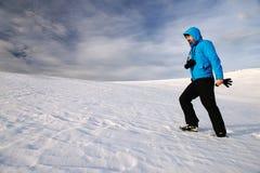 Χειμερινή αλπική οδοιπορία στοκ εικόνες