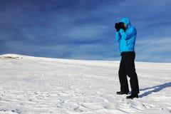 Χειμερινή αλπική οδοιπορία στοκ φωτογραφία με δικαίωμα ελεύθερης χρήσης
