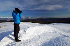 Χειμερινή αλπική οδοιπορία στοκ εικόνα με δικαίωμα ελεύθερης χρήσης