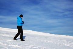 Χειμερινή αλπική οδοιπορία στοκ φωτογραφίες με δικαίωμα ελεύθερης χρήσης