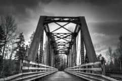 Χειμερινή γέφυρα Στοκ Φωτογραφία