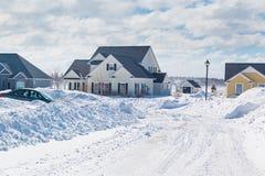 Χειμερινή γειτονιά στοκ εικόνα