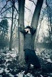 χειμερινή γυναίκα μόδας Στοκ εικόνα με δικαίωμα ελεύθερης χρήσης