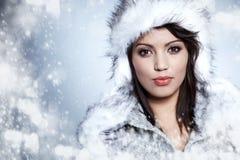χειμερινή γυναίκα πορτρέτου στοκ εικόνα