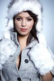 χειμερινή γυναίκα πορτρέτου στοκ εικόνες