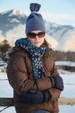 Χειμερινή γυναίκα Στοκ εικόνα με δικαίωμα ελεύθερης χρήσης