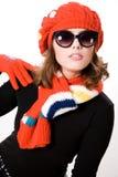 χειμερινή γυναίκα στοκ εικόνες με δικαίωμα ελεύθερης χρήσης