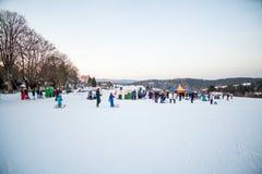 Χειμερινή διαδρομή κόμματος στοκ εικόνα με δικαίωμα ελεύθερης χρήσης
