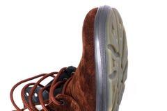 Χειμερινή μπότα σε ένα άσπρο υπόβαθρο στοκ φωτογραφία με δικαίωμα ελεύθερης χρήσης