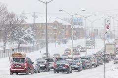 Χειμερινή οδήγηση στο Τορόντο στοκ εικόνα