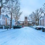 Χειμερινή οδός, Λονδίνο - Αγγλία στοκ φωτογραφία με δικαίωμα ελεύθερης χρήσης