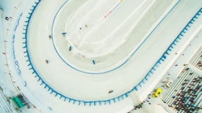 Χειμερινή πίστα αγώνων στον πάγο Στοκ Φωτογραφίες
