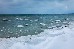 Χειμερινή παραλία Στοκ φωτογραφίες με δικαίωμα ελεύθερης χρήσης