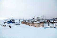 Χειμερινή πρόσδεση στοκ εικόνα με δικαίωμα ελεύθερης χρήσης