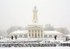 Χειμερινή πόλη Kostroma, χιονοθύελλα στοκ φωτογραφία με δικαίωμα ελεύθερης χρήσης
