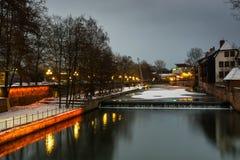 Χειμερινή πόλη Στοκ Εικόνα