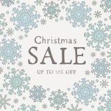 Χειμερινή πώληση γραφική με snowflakes Στοκ Εικόνες