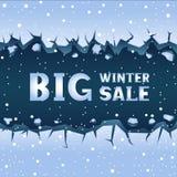 Χειμερινή πώληση ρωγμών πάγου διανυσματική απεικόνιση