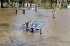 Χειμερινή πλημμύρα Καλιφόρνιας Στοκ εικόνες με δικαίωμα ελεύθερης χρήσης